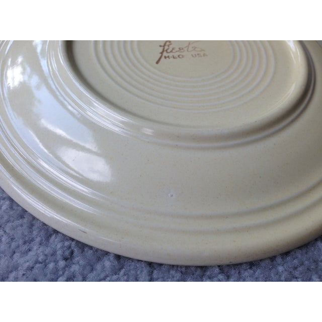 "White Vintage Fiestaware 9"" Luncheon Plate For Sale - Image 8 of 8"