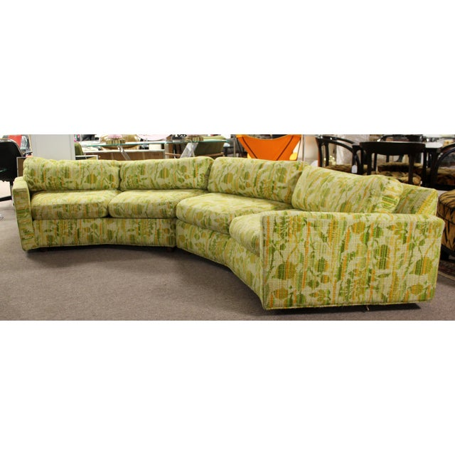 For your consideration is a spectacular, two piece sectional sofa, by Englander Triangle, by Milo Baughman, circa the...