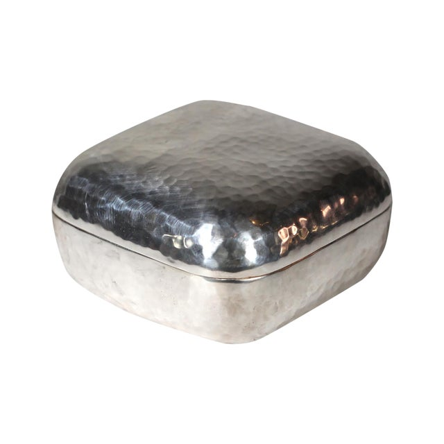 Hammered Silver Plated Box - Image 1 of 3