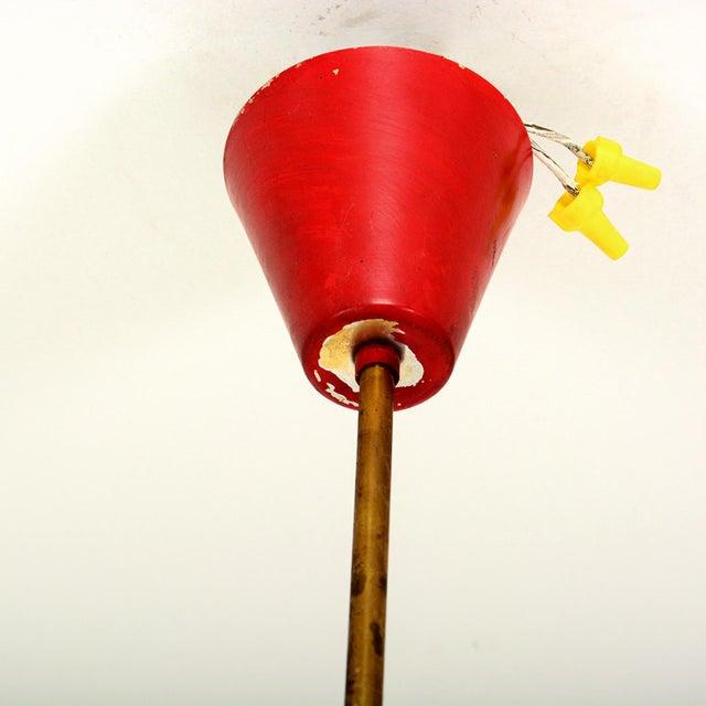 Stilnovo 1950s Stilnovo Italian Sputnik 6 Arm Red Chandelier For Sale - Image 4 of 9