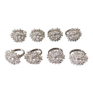 Vintage Crystal Napkin Rings - Set of 8 For Sale