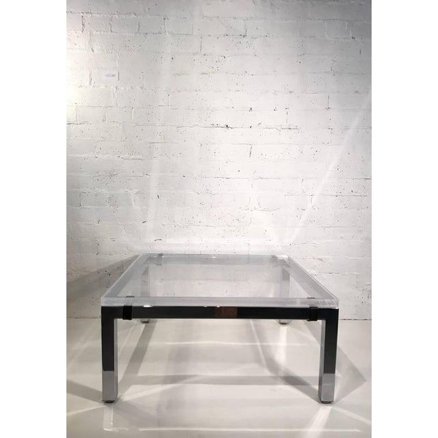 Acrylic and Chrome Cocktail Table by Charles Hollis Jones - Image 2 of 7