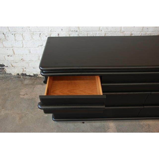 Vintage Jay Spectre for Century Furniture Cerused Oak & Chrome Dresser - Image 7 of 11