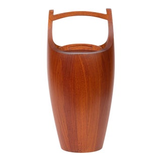 Jens Quistgaard Large Teak Ice Bucket For Sale