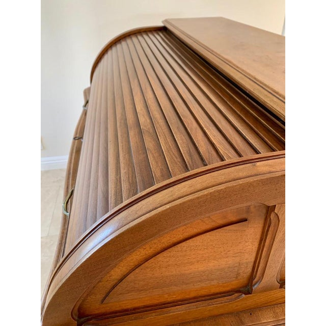 Antique French Walnut Tambour Top Desk For Sale - Image 10 of 13