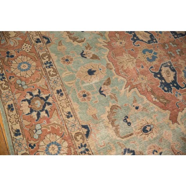 """Textile Vintage Distressed Tabriz Carpet - 8'5"""" X 10'7"""" For Sale - Image 7 of 12"""