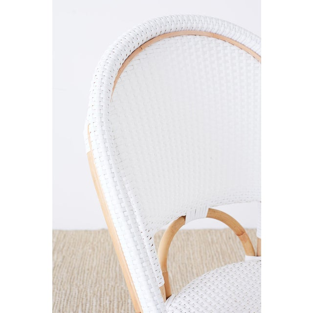 Wood Serena and Lily Bamboo Riviera Rattan French Bistro Chairs For Sale - Image 7 of 13
