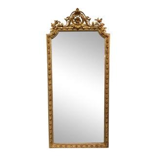 Louis XVI Style Parcel Gilt Mirror