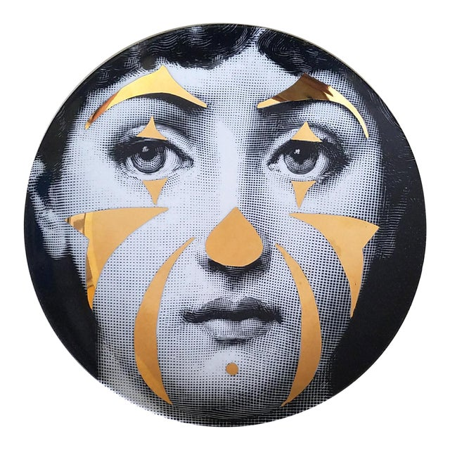 Atelier Fornasetti Gold Tema E Variazioni Plate, Number 122 - Image 1 of 4