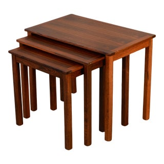 Danish Modern Rosewood Nesting Tables - Set of 3 For Sale