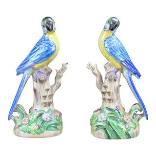 Pasargad N Y Porcelain Birds - a Pair For Sale