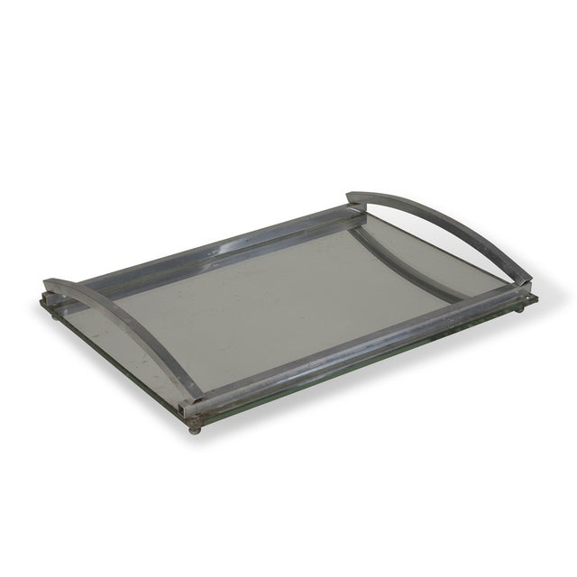 1930s Matte Nickel Frame Serving Tray - Image 2 of 9