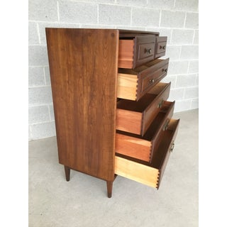 1950s Mid-Century Modern Heywood Wakefield Cliff House Collection Solid Cherry High Chest of Drawers Preview