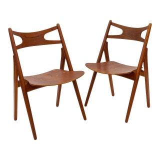 Mid 20th Century Hans Wegner Ch29 'Sawbuck' Chairs - a Pair For Sale