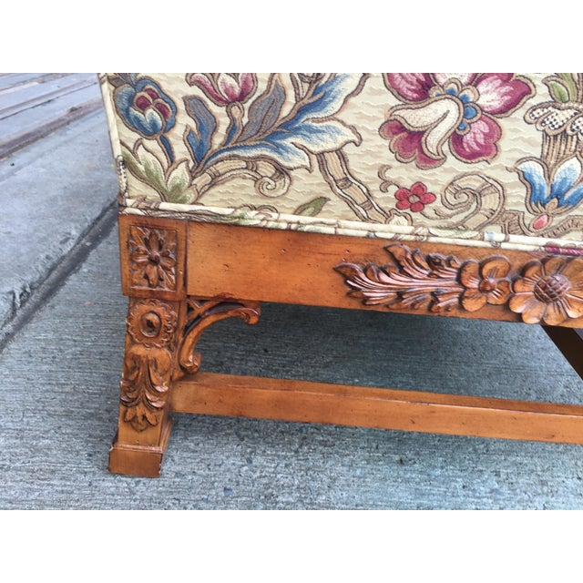 Chinese Chippendale Carved Camelback Sofa - Image 8 of 11