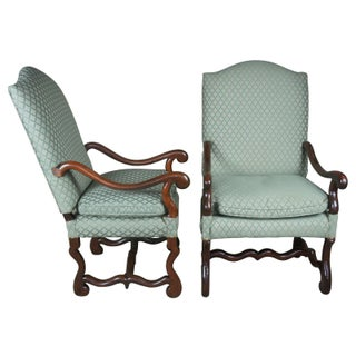 19th Century Antique Old World Tuscan Armchairs-a Pair Preview