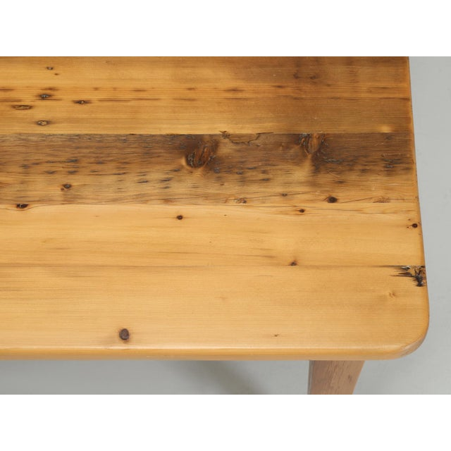 Pine English Pine Farm Table From Main Pine Company For Sale - Image 7 of 11