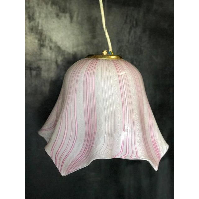 Vintage Murano Pendant Light For Sale In Los Angeles - Image 6 of 6