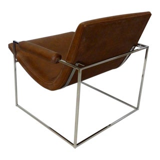Milo Baughman Thayer Coggin Chrome Frame Lounge Chair