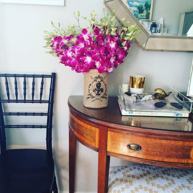 Vintage Hepplewhite Demi-Lune Table - Image 9 of 9