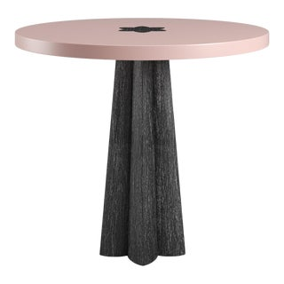 Danielle Side Table - Black Cerused Oak - Coral Dust For Sale