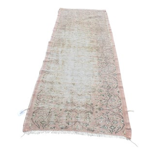 Vintage Turkish Oushak Rug - 2′11″ × 9′8″