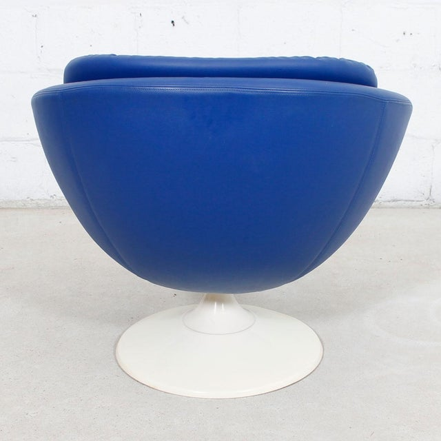 Blue 60s Swivel Pod Chair by Overman of Sweden - Image 5 of 10