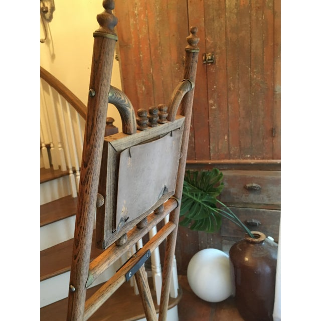 Standing Floor Model Vintage Bamboo and Brass Easel For Sale - Image 4 of 6