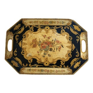 Vintage Japanese Painted Tray