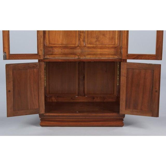French Art Deco Walnut Vitrine/Display Cabinet - Image 8 of 11