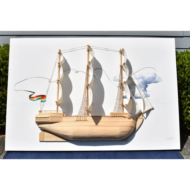 Weston Jandacka 'Sail Boat No. 2' 3D Sculpture Painting For Sale - Image 13 of 13