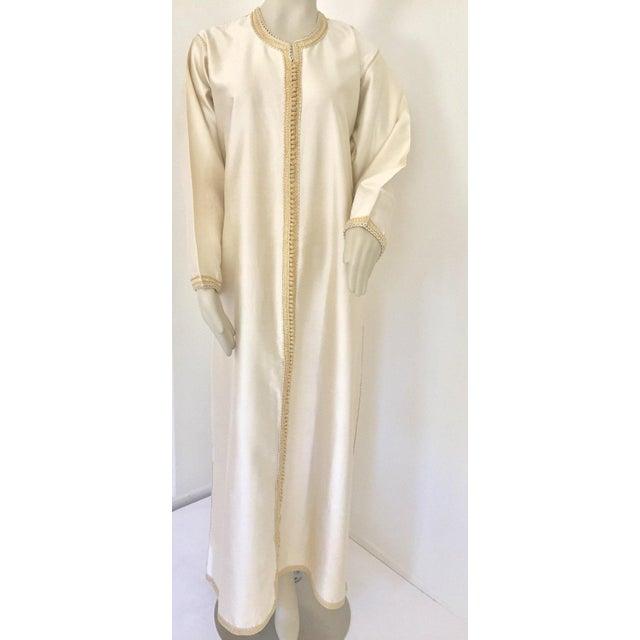 Moroccan Elegant Luxury Dupiono Silk Caftan Gown Maxi Dress For Sale - Image 9 of 13