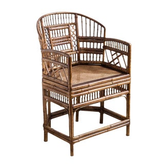 Brighton Bamboo Barrel Chair by Thomasville Old Label For Sale