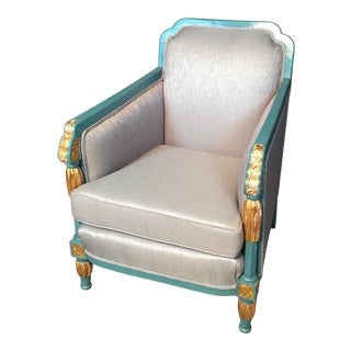 Early 20th Century Art Deco Bergère For Sale