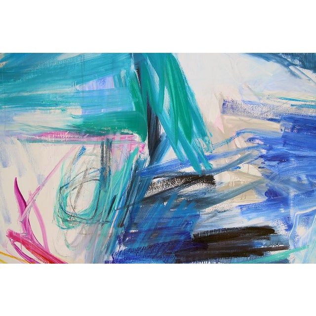 "Abstract Trixie Pitts's ""Chasing Coral"" Large Abstract Oil Painting For Sale - Image 3 of 10"