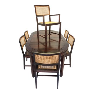 Set of 6 Vintage Rosewood Dining Chairs Mid Century Hong Kong For Sale