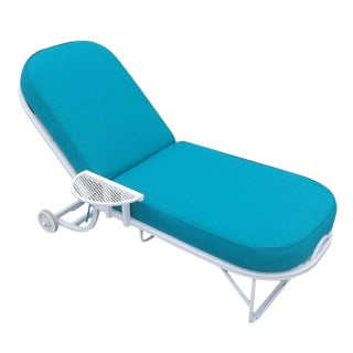 Oval Steel Spring Patio Chaise Lounge by Woodard - 12 Available For Sale