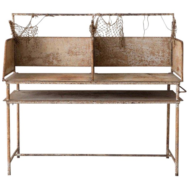 Early 20th Century American Iron Oyster Table For Sale