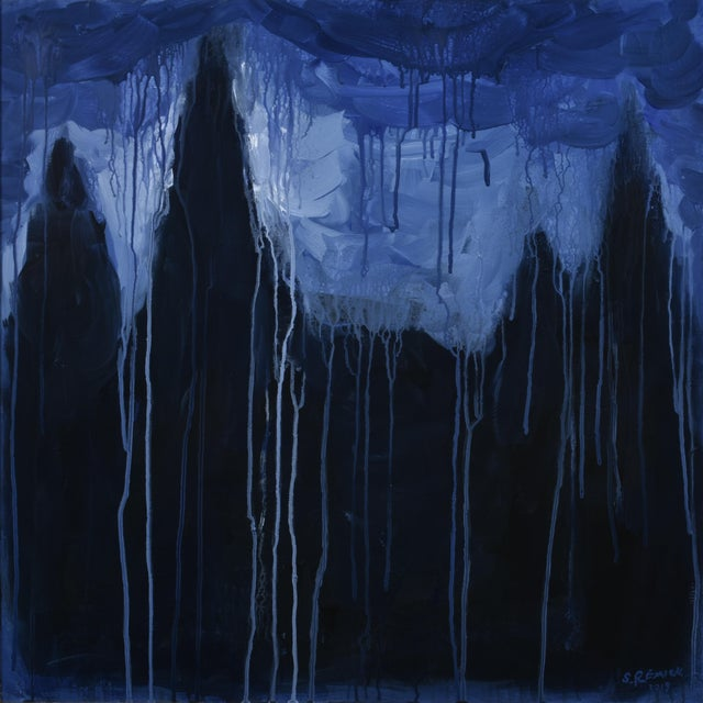 "Stephen Remick ""Abbey of the Pines"" Contemporary Expressionist Painting For Sale - Image 10 of 10"