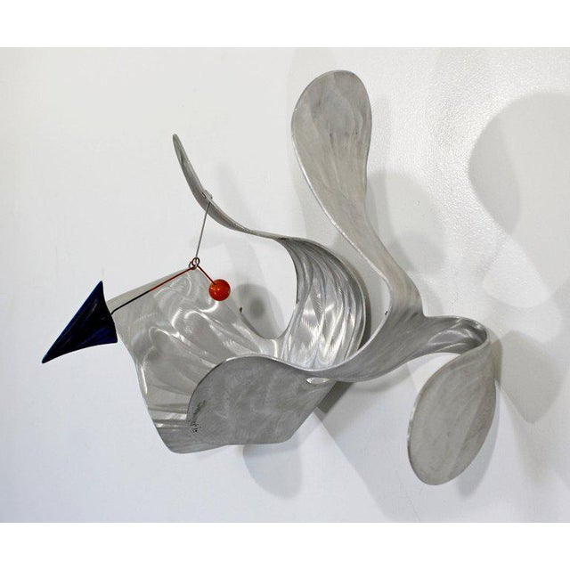 Contemporary Signed Metal Abstract Wall Sculpture Signed John Krawczyk, 1990s For Sale - Image 9 of 12