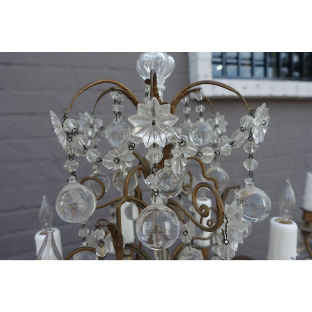French Crystal & Bronze Lights - Pair - Image 7 of 9