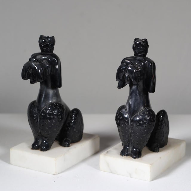 Early 20th C. Alabaster Poodle Bookends - Pair - Image 3 of 5