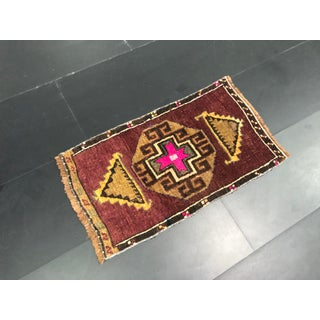 Aztec Decorative Turkish Handmade Antique Small Rug 1′4″ × 2′5″ Preview