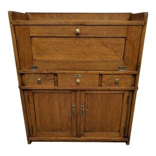 American Oak Mission Arts & Craft Desk For Sale