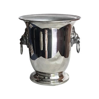 Vintage Silver Plate Regency Style Champagne Cooler For Sale