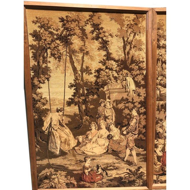 French 19th Century French Tapestries - a Pair For Sale - Image 3 of 11