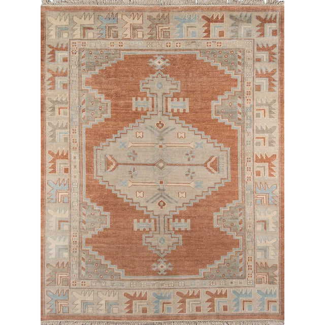 Erin Gates Concord Walden Rust Hand Knotted Wool Area Rug 2' X 3' For Sale