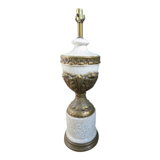 1970's Regency Volcanic Textured Table Lamp For Sale