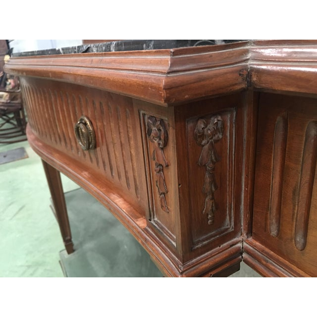 Green 20th Century Louis XVI Style Neoclassical Console Table With Three Drawers For Sale - Image 8 of 13