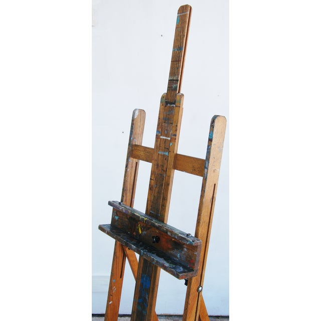 Vintage Adjustable Oak Artist's Easel - Image 5 of 11